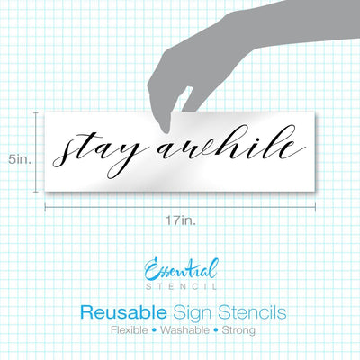 Be Our Guest + Stay Awhile Stencil Set