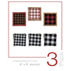 Mini Buffalo Check (Plaid) Stencil Set (3 Pack)