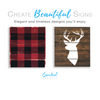 Reusable Christmas Sign Stencils for painting wood signs | DIY Farmhouse Christmas Decor | Buffalo Check Plaid stencil & Deer Head Silhouette Stencil