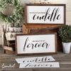 We Should Cuddle + We Decided on Forever | Reusable Wood Sign Stencils