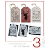 Deer Mini Tag Stencil Set (3 Pack)