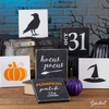 Reusable Halloween sign stencils for painting on wood | DIY Halloween Decor