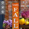 Reusable Vertical Happy Fall Y'all Porch Sign Stencil for painting on wood, DIY Fall Vertical Front Porch Leaner Signs