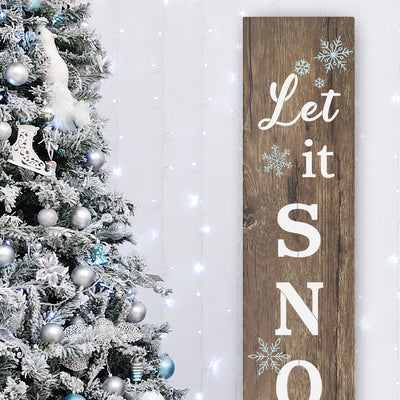 Let it Snow Vertical Christmas Stencil