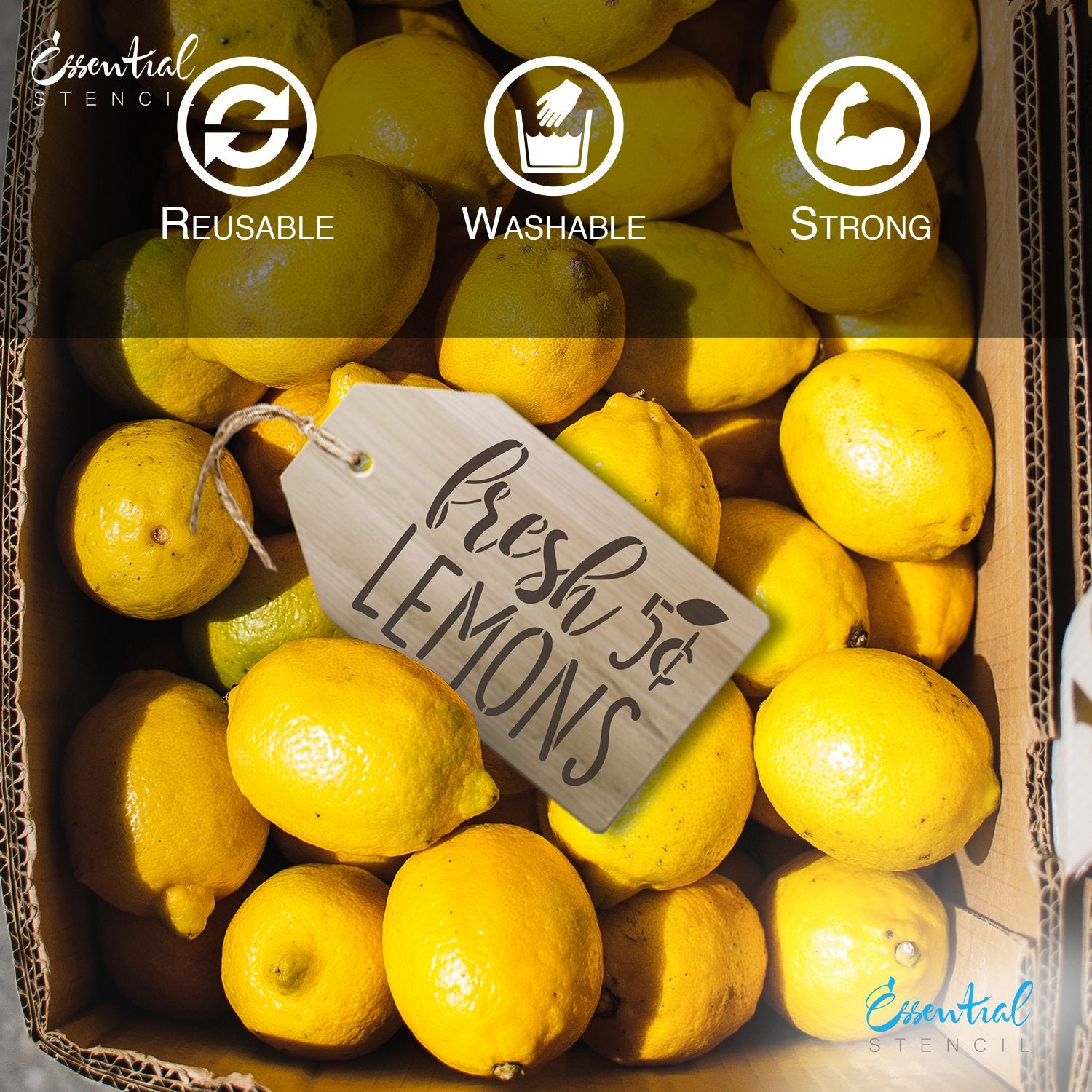 DIY reusable Lemon mini tag sign stencils, lemons mini sign stencils, sweet lemon farm lemon vintage truck stencil, be zesty stencil, fresh lemons 5 cents stencil, lemon tier tray sign stencils