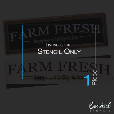 Farm Fresh Sign Stencil