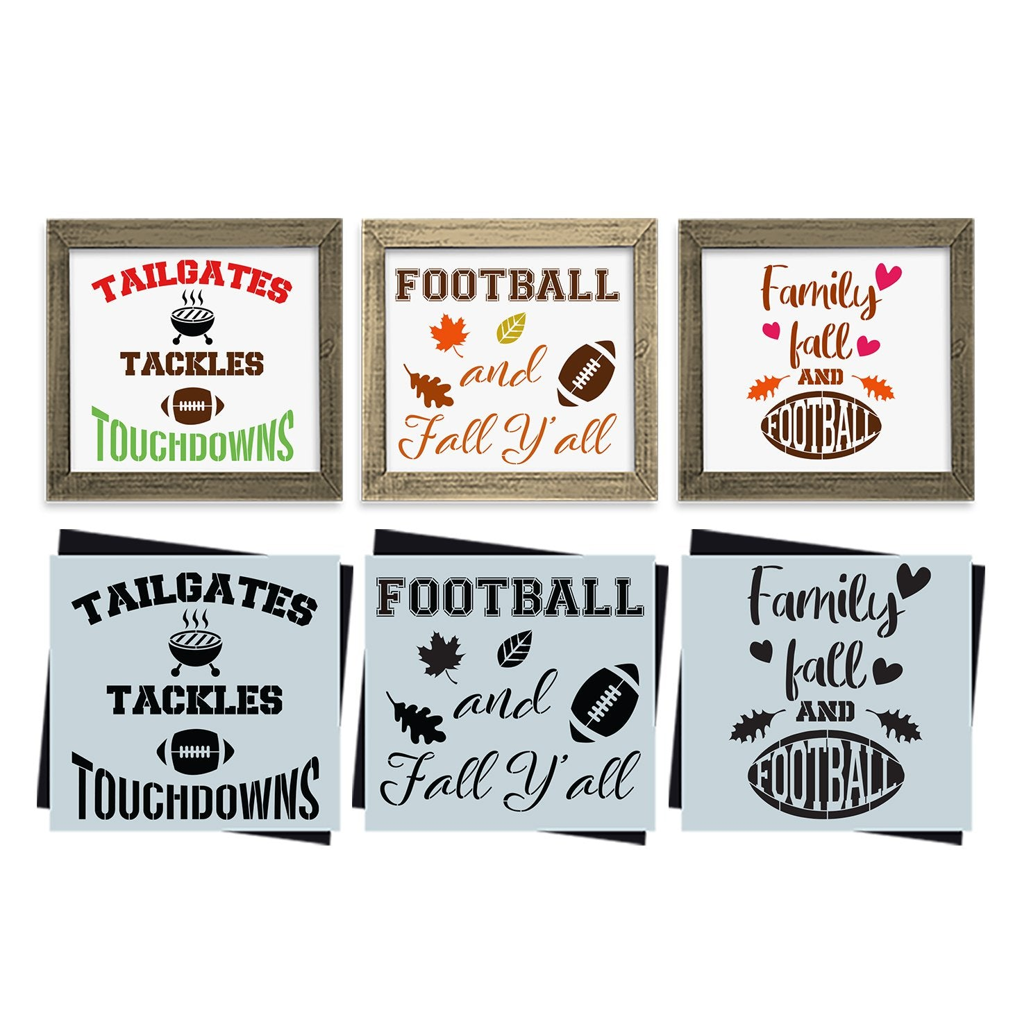 Fall Football Stencil Set (3 Pack)