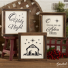 Reusable Christmas Nativity sign stencils for painting on wood | DIY Christmas Decor | Nativity Scene, Come let us adore Him, O holy night stencils