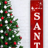 Reusable Santa Stop Here Vertical Sign Stencil, DIY Christmas Vertical Front Porch Leaner Signs