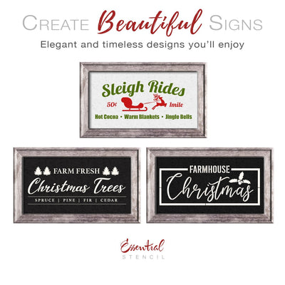 Farmhouse Christmas Stencil Set (3 Pack)