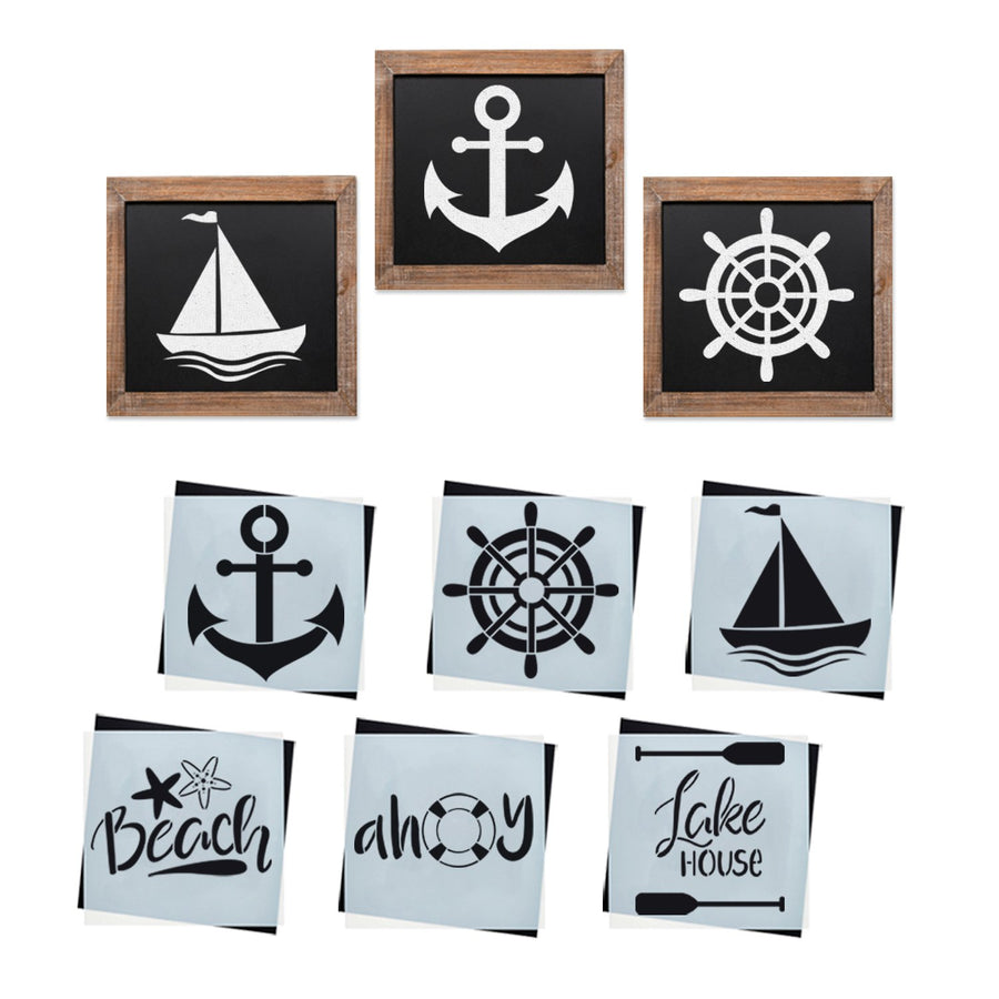 for different DIY projects painting stencil nautical marine Anchor