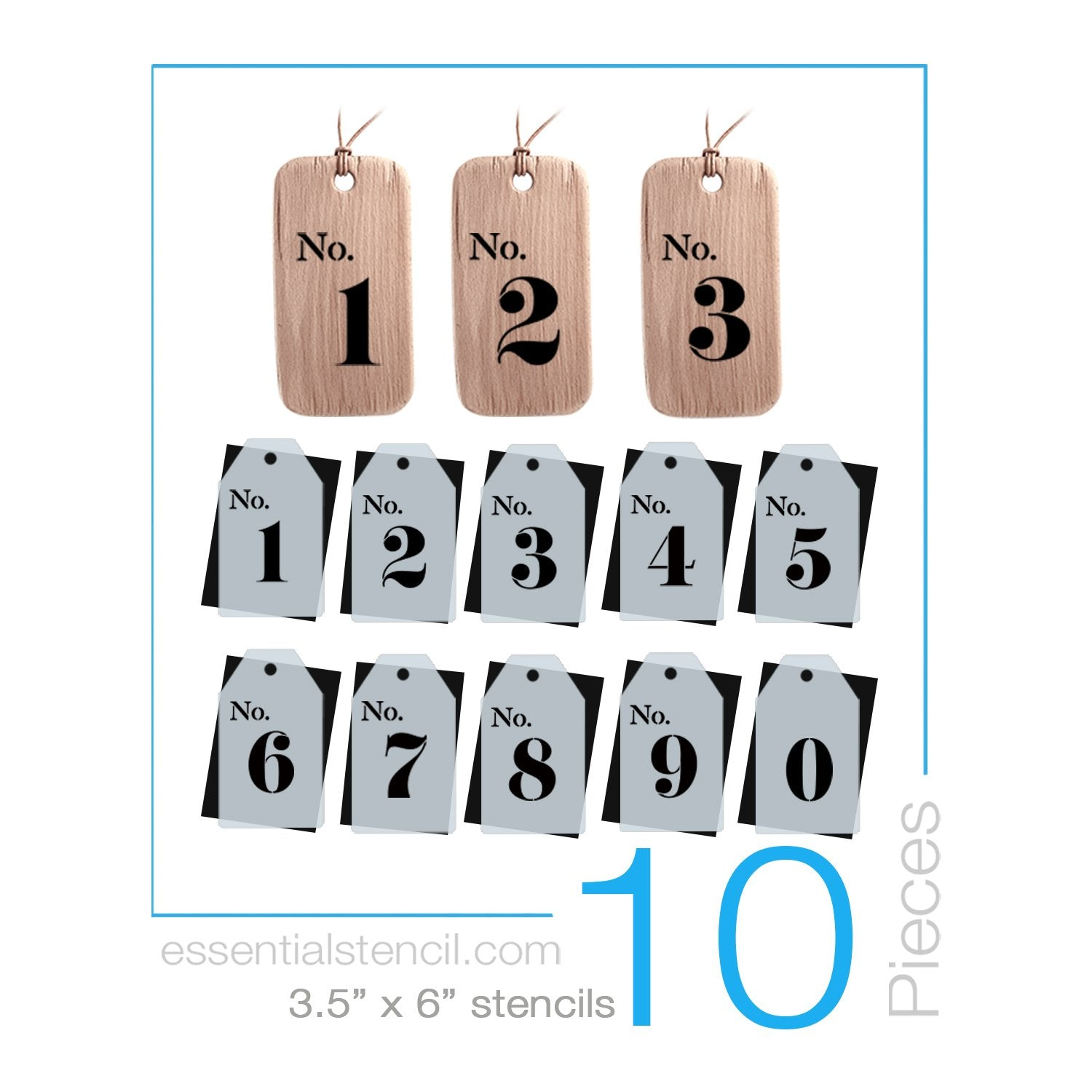 DIY reusable number tag stencils, Wedding No.1 No. 2 No. 3 No. 4 No. 5 No. 6 No. 7 No. 8 No. 9 0 reusable stencils, diy Wedding placement number card stencils