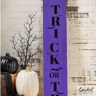 Vertical Trick or Treat | Halloween Stencil