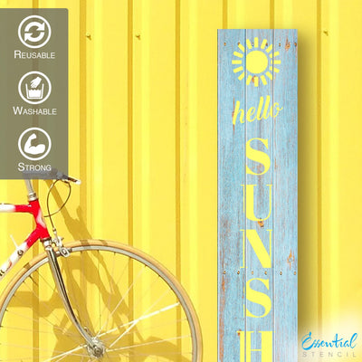 Vertical Hello Sunshine | Summer Stencil