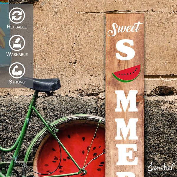 Reusable Vertical Sweet Summertime Stencil