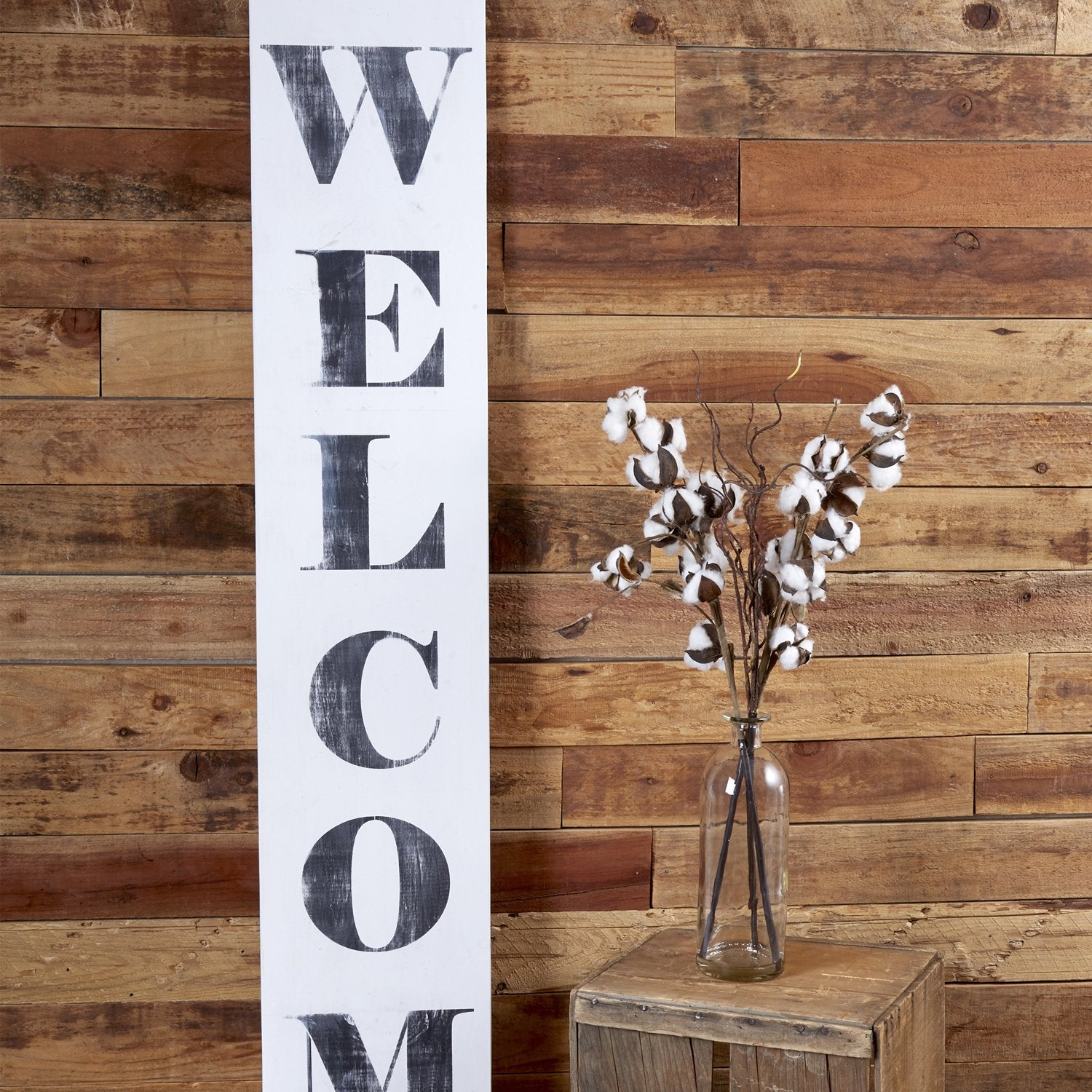 Reusable Farmhouse sign stencils for painting on wood, 5ft foot vertical welcome porch sign stencil, DIY Farmhouse decor