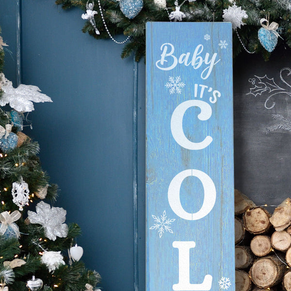 Reusable Baby It's Cold Outside 4ft Vertical Stencil
