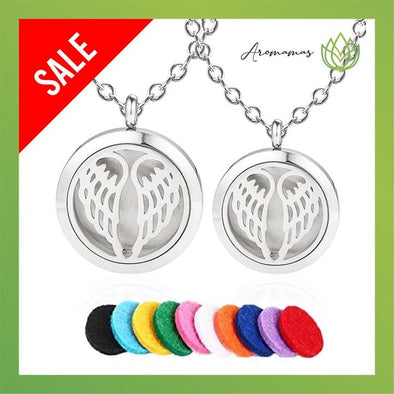Angel Wings Aromatherapy Necklace