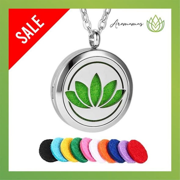 AroMamas Lotus Signatured Design Aromatherapy Necklace