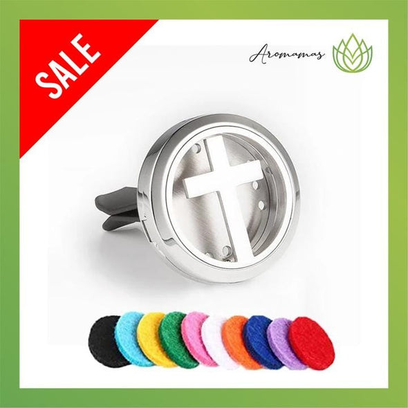 Cross Car Clip Diffuser Locket (Aromatherapy Car Freshener)