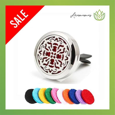 Cross Flower Car Clip Diffuser Locket (Aromatherapy Car Freshener)