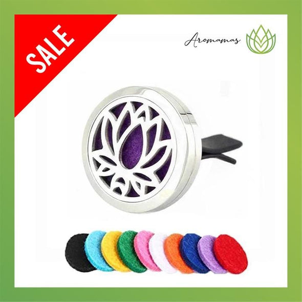 Lotus Car Clip Diffuser Locket (Aromatherapy Car Freshener)