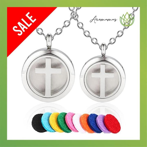 Cross Aromatherapy Essential Oil Necklace