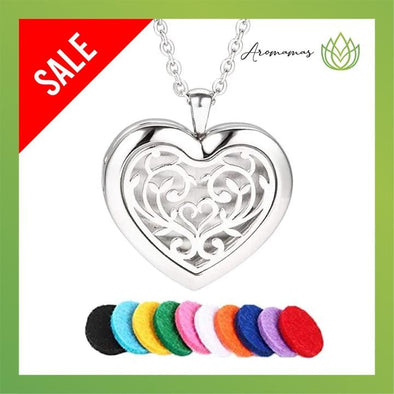 Heart Shaped Love of Tree Aromatherapy Necklace