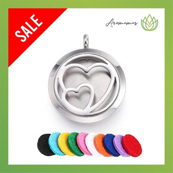 Heart to Heart Aromatherapy Necklace
