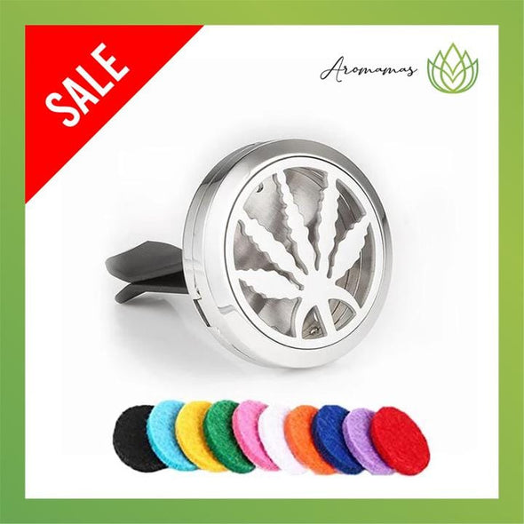 Leaf Car Clip Diffuser Locket (Aromatherapy Car Freshener)