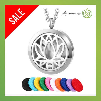 Lotus Flower Aromatherapy Necklace