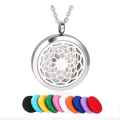 Sunflower Aromatherapy Essential Oil Necklace