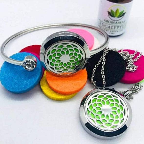 Sunflower Aromatherapy Set (Necklace & Bracelet)
