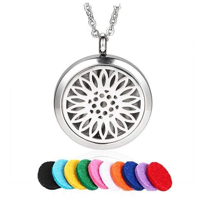 Sunflower Bloom Aromatherapy Necklace