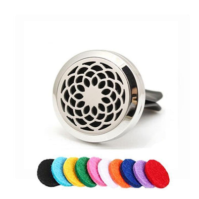 Sunflower Car Clip Diffuser Locket (Aromatherapy Car Freshener)