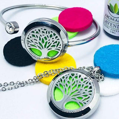 Tree Of Life Aromatherapy Set (Necklace & Bracelet)
