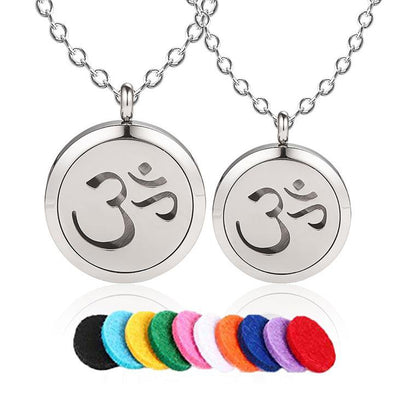 Yoga OM Aromatherapy Essential Oil Necklace