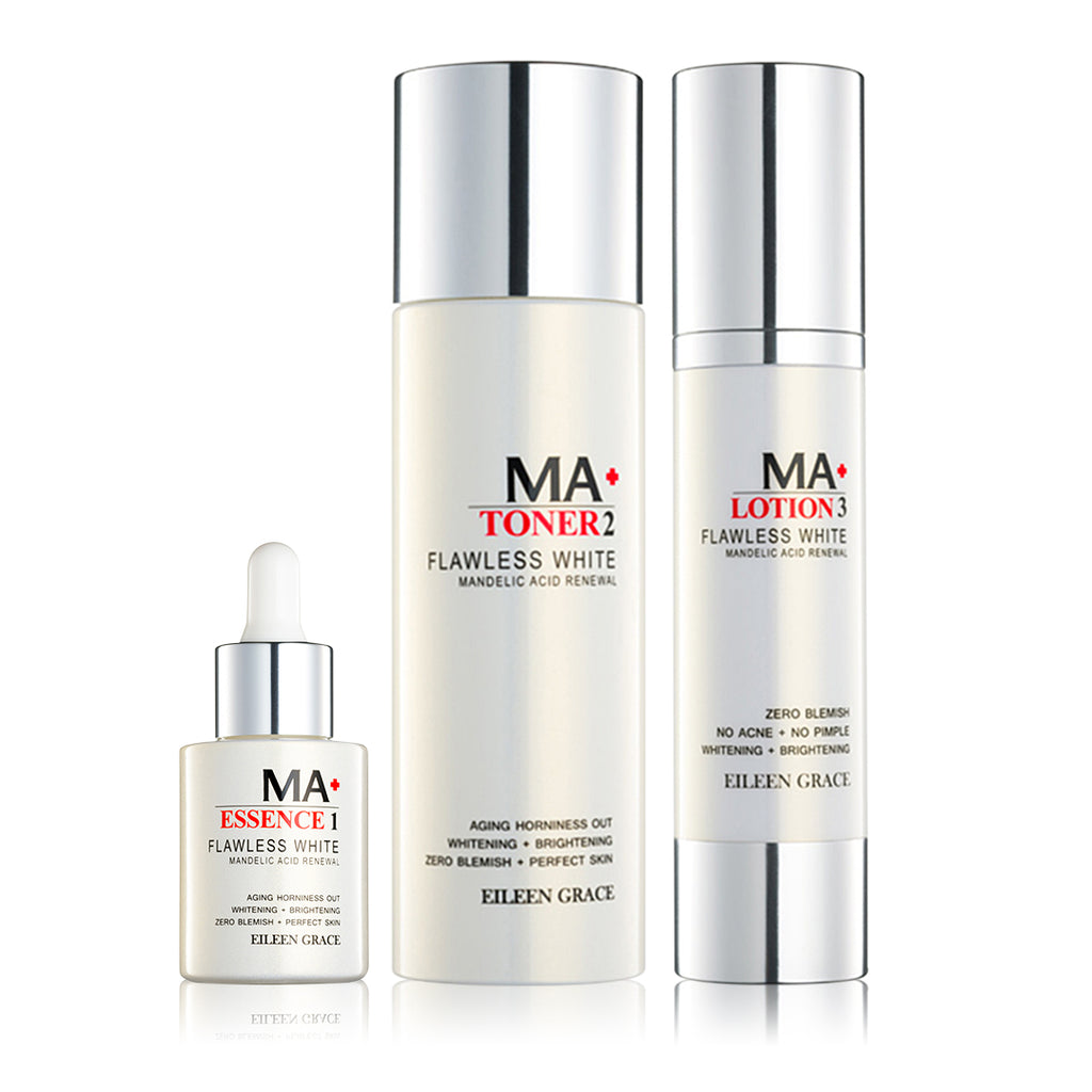 SET0002 - Flawless White MA Toner 150ml + Flawless White MA Lotion 50ml + Flawless White MA Essence 30ml