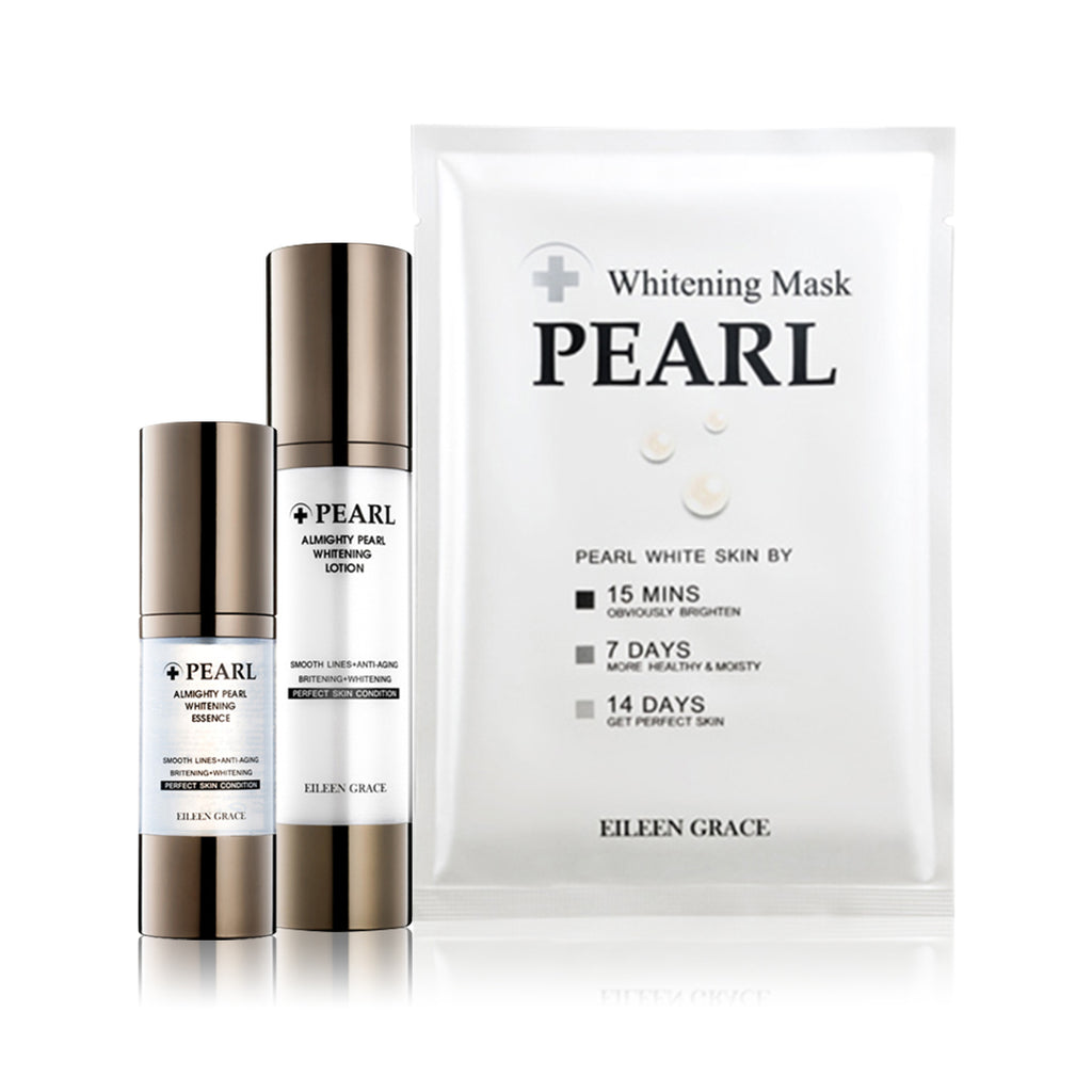 SET0003 - Almighty Pearl Whitening Mask 30ml*5Sheets + Almighty Pearl Lotion 50ml + Almighty Pearl Essence 30ml