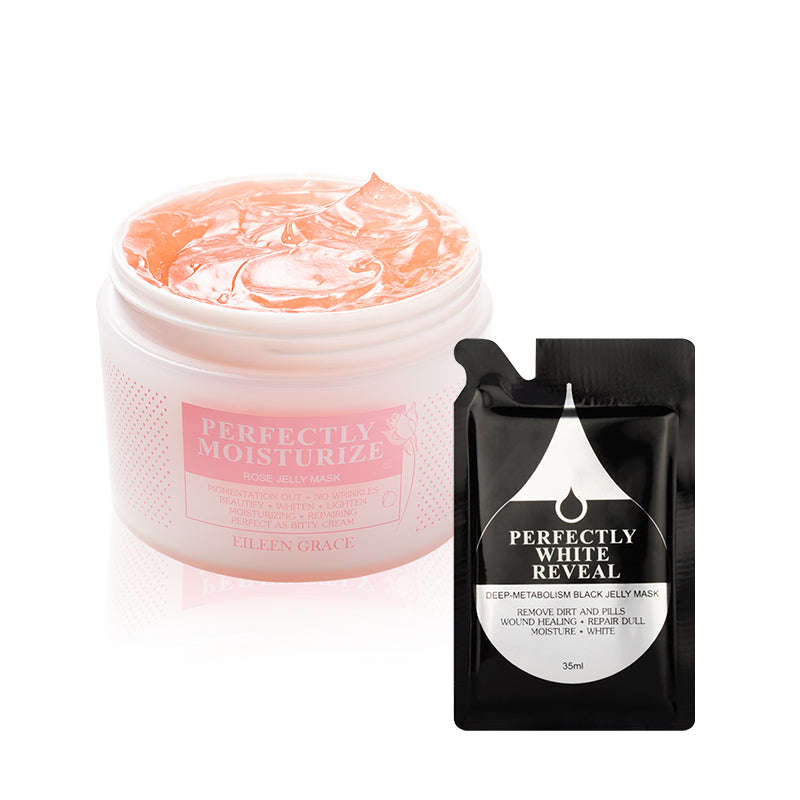 SET0017 - Rose Jelly Mask 300ml + Black Jelly Mask 35ml