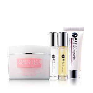 SET0039 - Rose Jelly Mask 300ml, Luxury Moisture Lotion 10ml, Luxury Moisture Toner 10ml, Soap Free Moisture Cleanser 10ml
