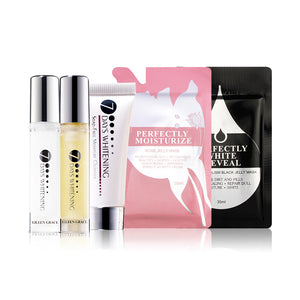 SET0060 - Soap Free Cleanser 10ml + Black Jelly Mask 35ml + Rose Jelly Mask 35ml + Luxury Toner 10ml + Luxury Lotion 10ml
