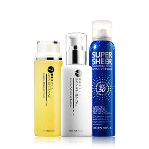 SET0040 - Luxury Moisture Toner 250ml + Luxury Moisture Lotion 120ml + Sunscreen Cooling Spray 180ml