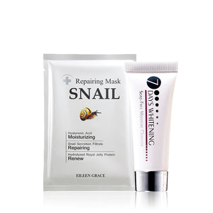 SET0054 - Almighty Snail Repair Mask 30ml*5pcs + Soap-Free Moisture Cleanser 10ml