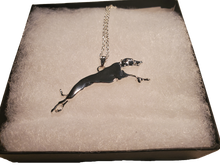 Large Silver Greyhound Necklace