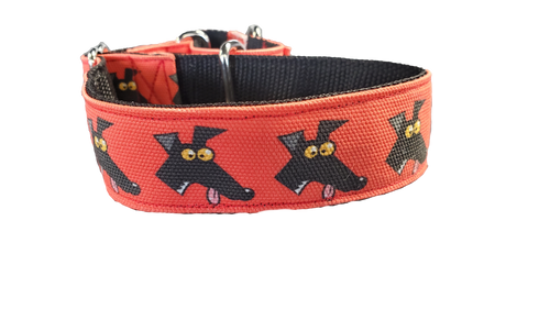 DERP RED - Richard Skipworth Martingale Collar by Love OF Greyhounds