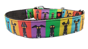 SEMAPHORE - Richard Skipworth Martingale Collar by Love OF Greyhounds