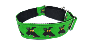 DERP LIME- Richard Skipworth Martingale Collar by Love OF Greyhounds
