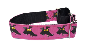 DERP PINK- Richard Skipworth Martingale Collar by Love OF Greyhounds