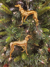 BEST DEAL -6 Gold Greyhound Ornaments